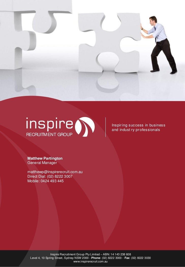 Inspir ing success in business                                                            and indust ry pr ofessionalsRECR...