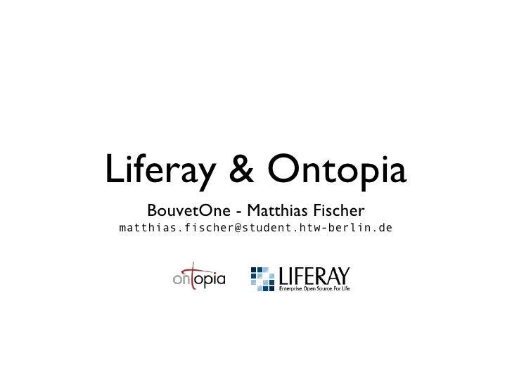 Ontopia / Liferay integration