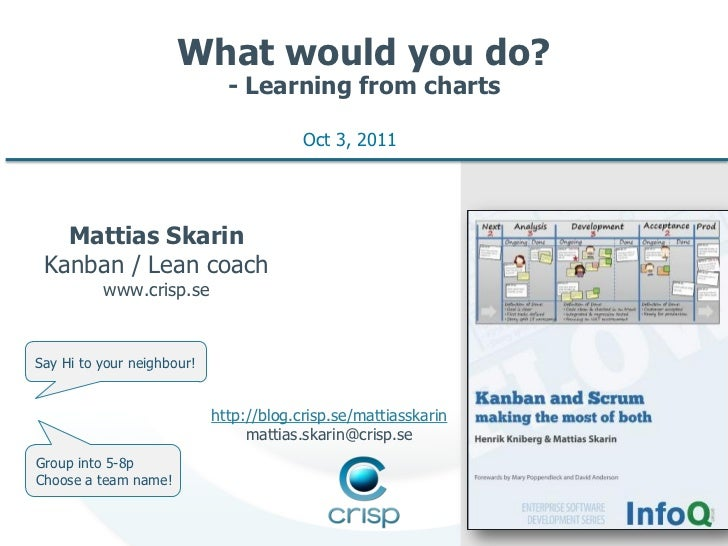 What would you do?                              - Learning from charts                                         Oct 3, 2011...