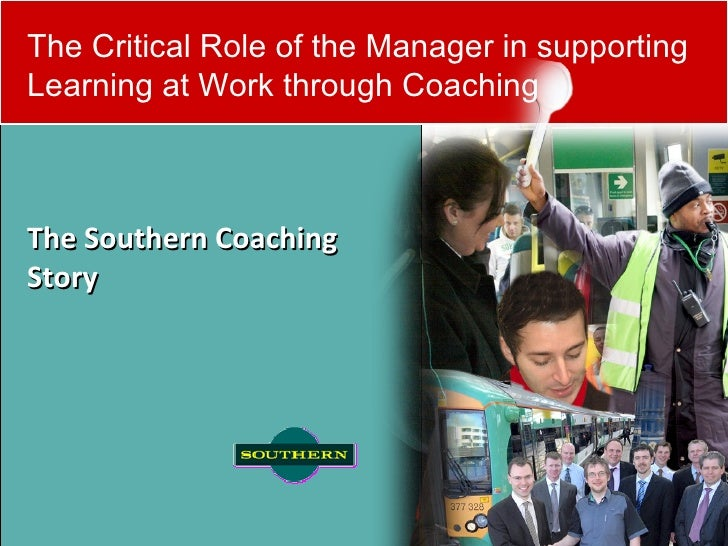 The critical role of the manager in supporting learning at work through coaching by Matt Watson