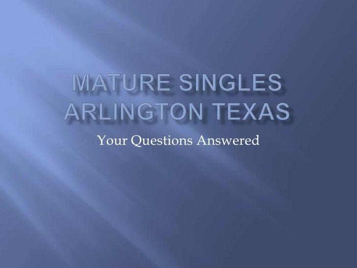 Mature Singles Arlington Texas