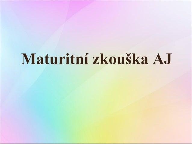 Maturitní zkouška-aj-systém-prezentace