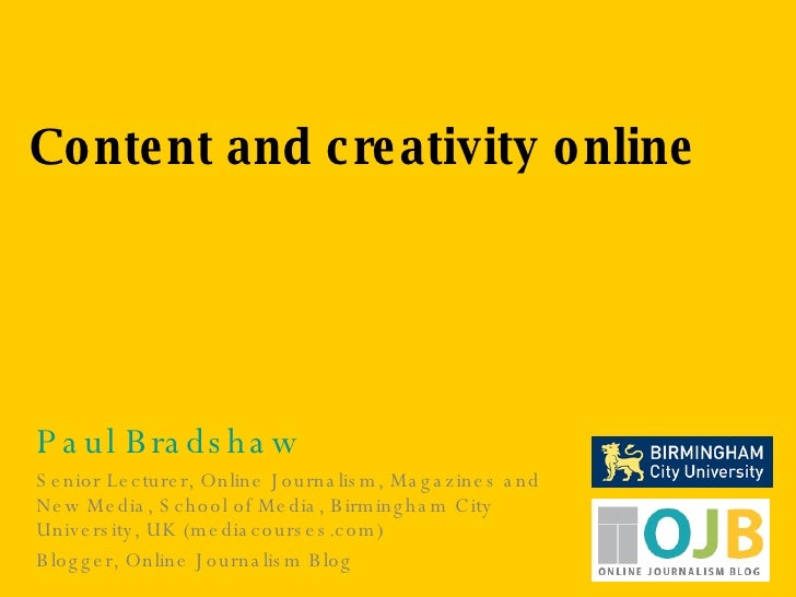 Content and creativity online
