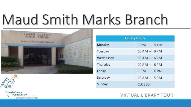 Maud Marks Library Virtual Tour
