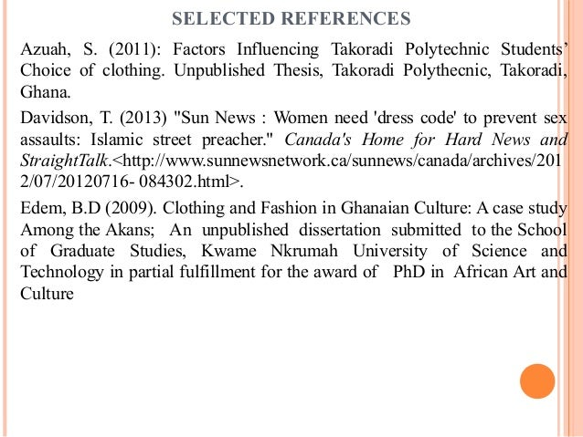 thesis on indecent dressing