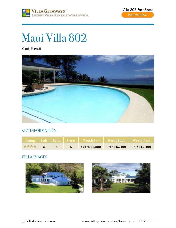Maui villa 802