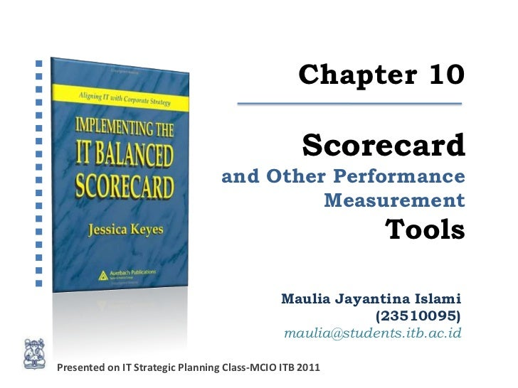 Maulia  BSC Tools chapter10 jessica keyes