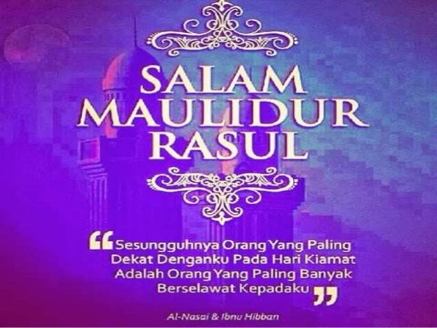 Salam Maulidur Rasul 2015 - 1436/ 1437H