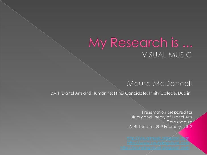 DAH (Digital Arts and Humanities) PhD Candidate, Trinity College, Dublin                                               Pre...