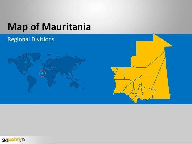 Mauritania Map - Fully Editabla PowerPoint Slides