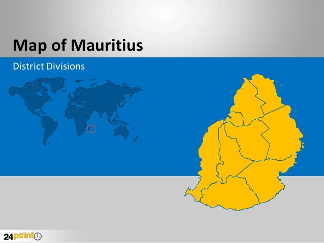 Map of Mauritius District Divisions