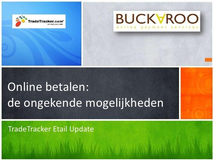 Maurits Dekker - presentatie trade tracker etail update
