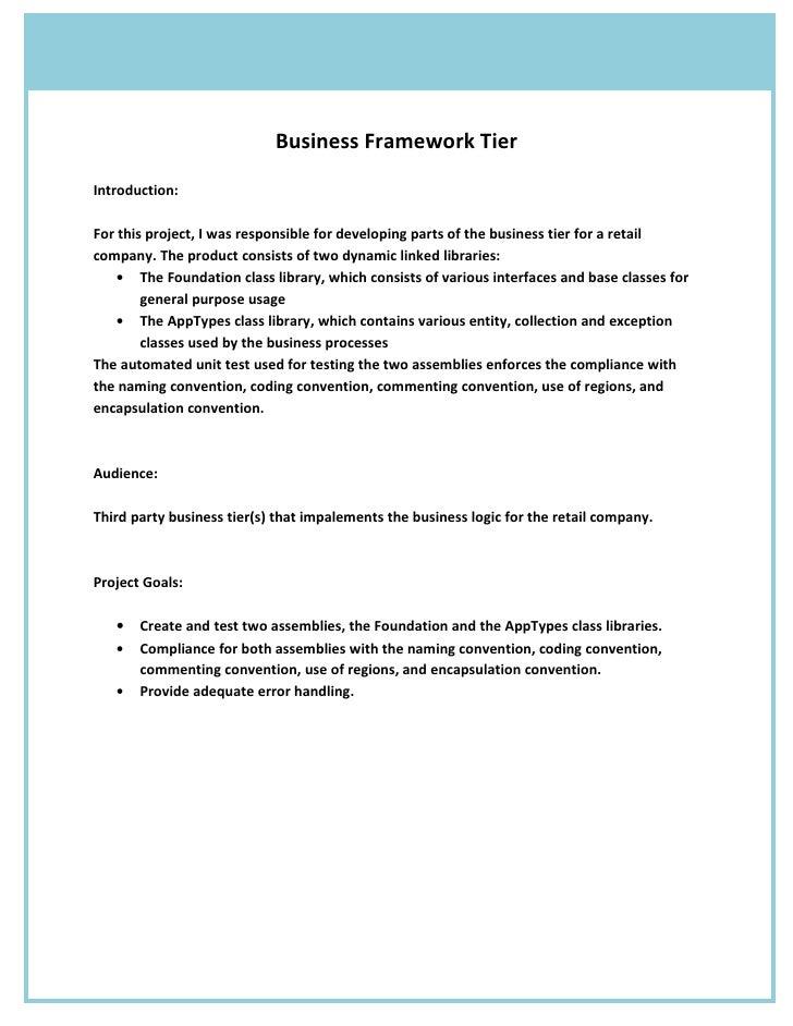 Framework  Project