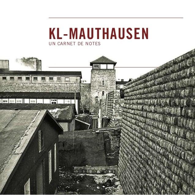 KL-MAUTHAUSEN UN CARNET DE NOTES