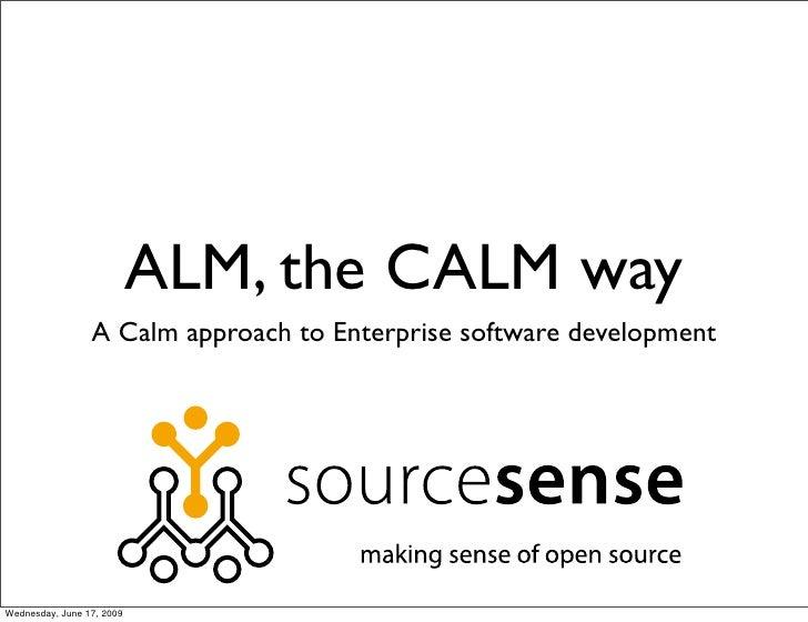 ALM, the CALM way                  A Calm approach to Enterprise software development     Wednesday, June 17, 2009
