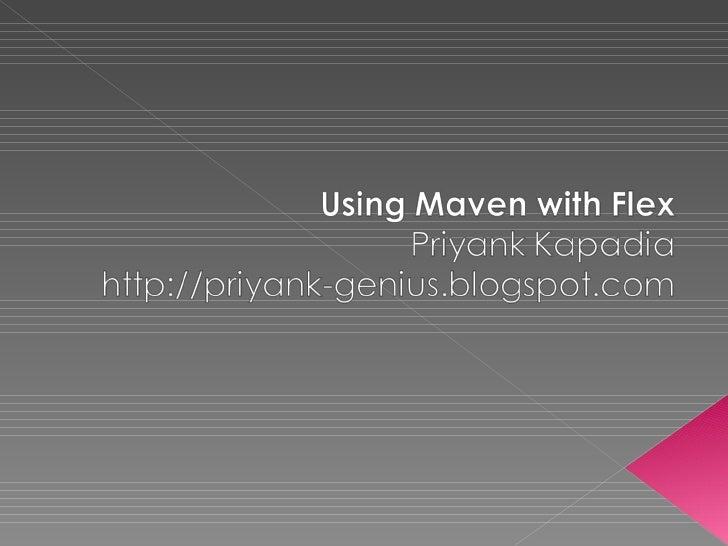 Maven with Flex