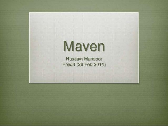 Maven basics (Android & IntelliJ)