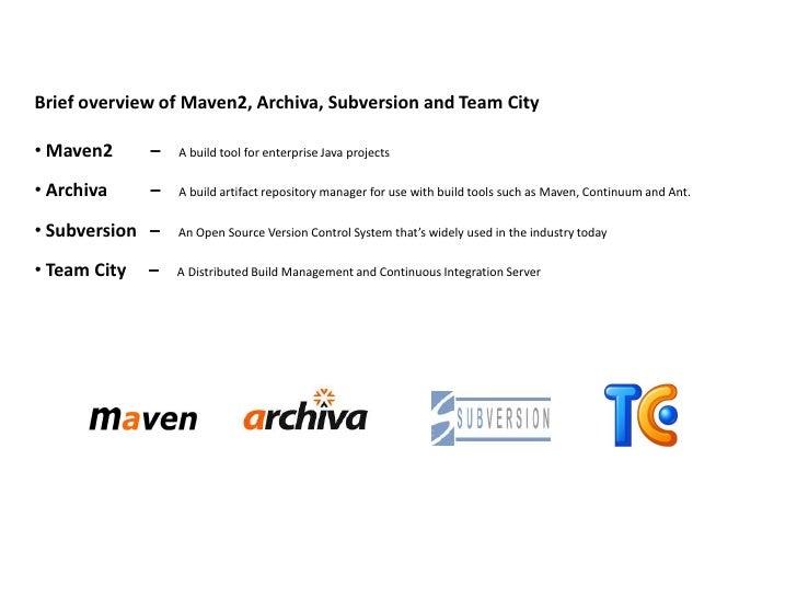 Maven, Archiva, Subversion and Team City