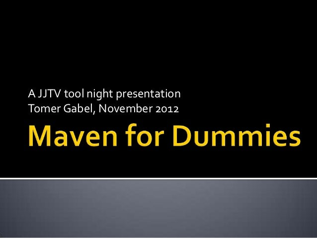 A JJTV tool night presentationTomer Gabel, November 2012