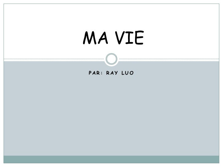 MA VIEPAR: RAY LUO