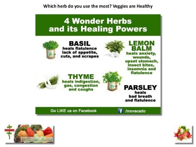 Which herb do you use the most? Veggies are Healthy