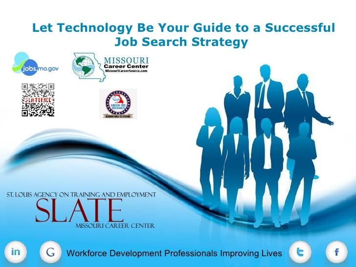 Let Technology Be Your Guide to a Successful            Job Search Strategy                   Free Powerpoint Templates   ...