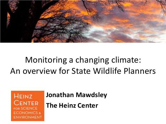 Mawdsley monitoring climate change