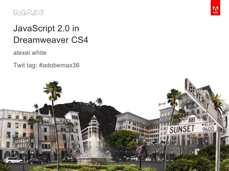 JavaScript 2.0 in Dreamweaver CS4