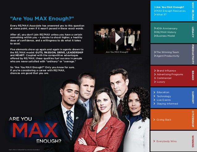 WHY RE/MAX                                                                                                                ...