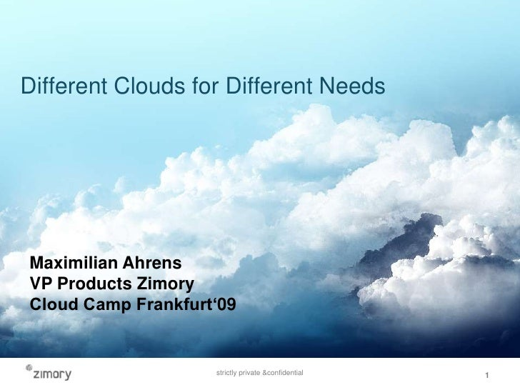 Max Ahrens   Different Clouds