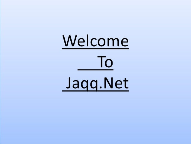 Welcome To Jaqq.Net
