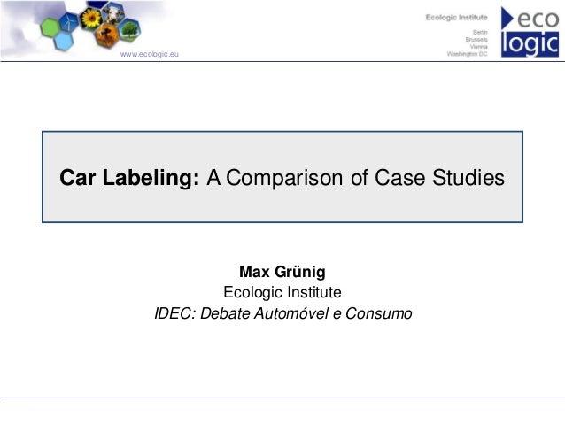 Debate Automóvel e Consumo - Max Gruenig parte 1