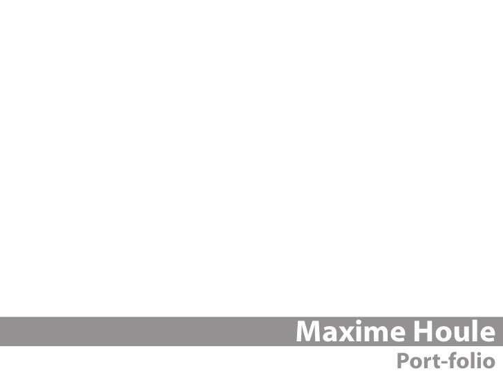 Maxime Houle      Port-folio