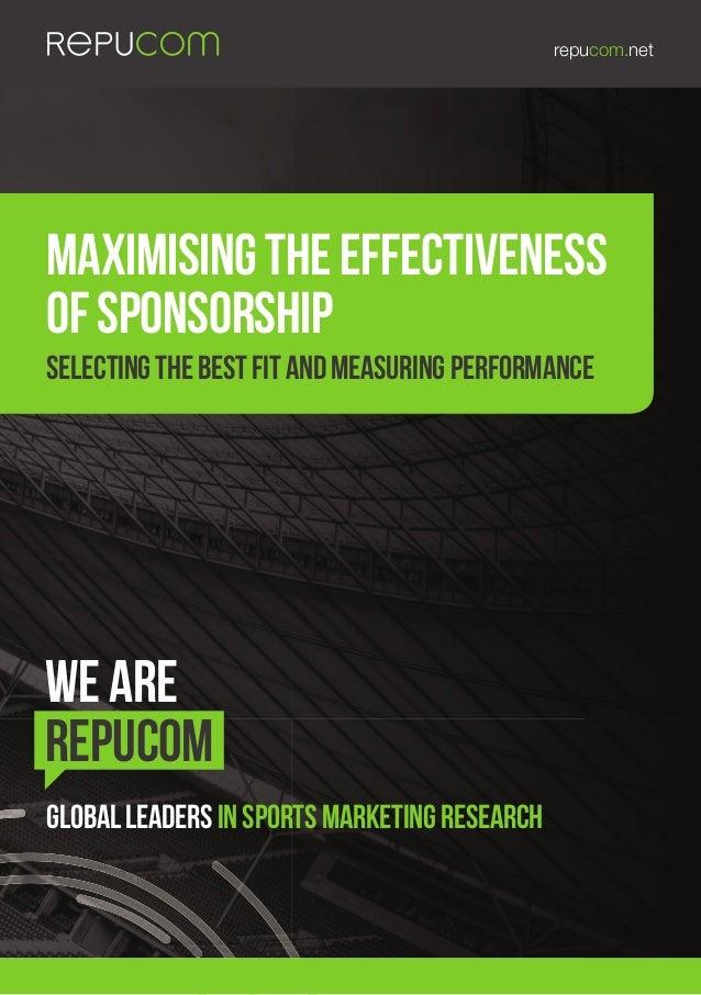 Maximising the effectiveness of sponsorship