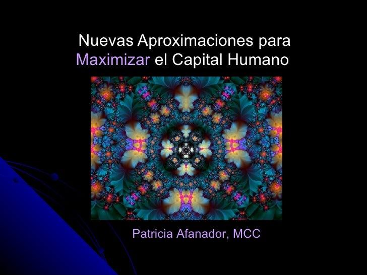 Maximizar el Capital Humano