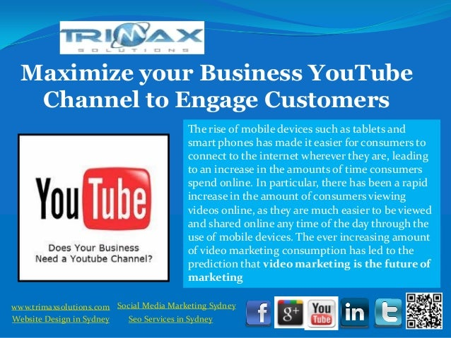 Maximize your Business YouTube    Channel to Engage Customers                                           The rise of mobile...
