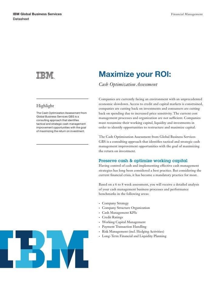 Maximize your ROI: Cash Optimization Assessment