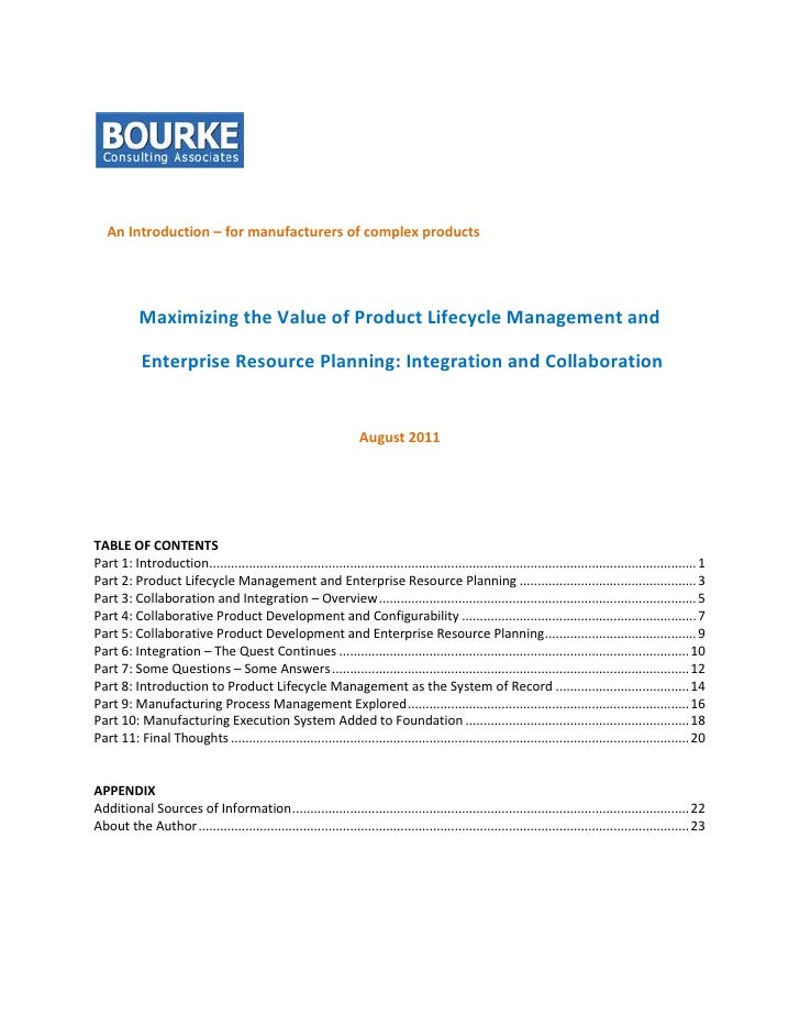An Introduction – for manufacturers of complex products           Maximizing the Value of Product Lifecycle Management and...