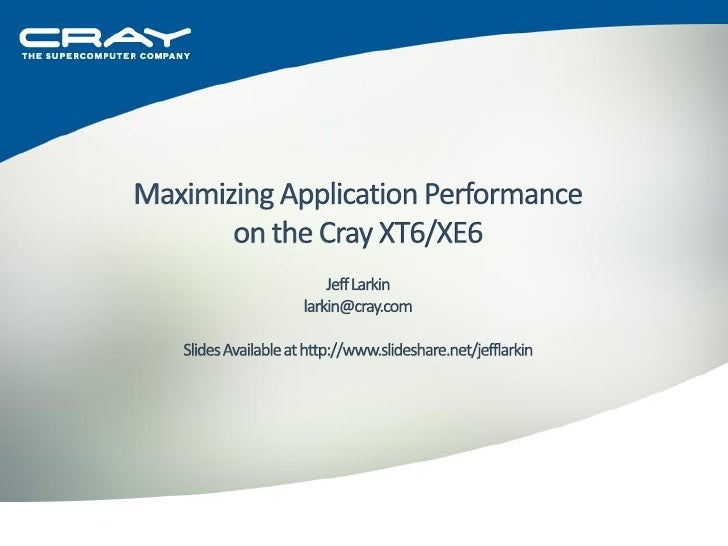  Review of XT6 Architecture     AMD Opteron     Cray Networks     Lustre Basics  Programming Environment     PGI Com...