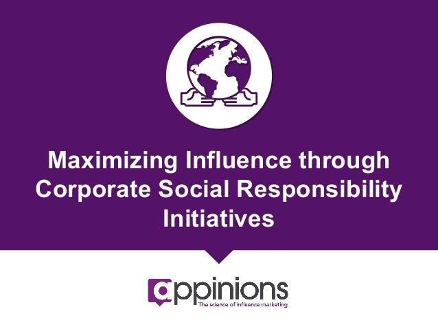 Maximizing Influence through CSR Initiatives {eBook}