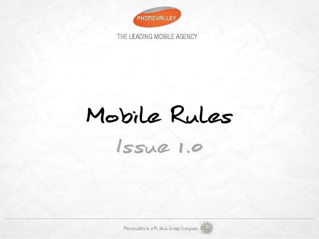 Mobile Rules  Issue 1.0