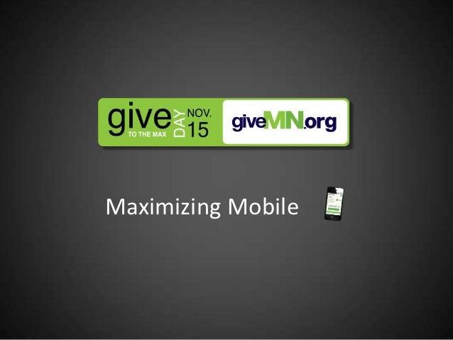 #GTMD12: Maximizing mobile