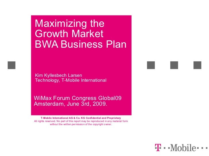 Maximizing the emerging market BWA business plan