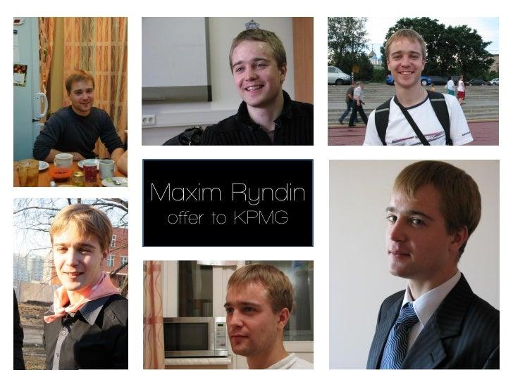 Maxim Ryndin offer to KPMG