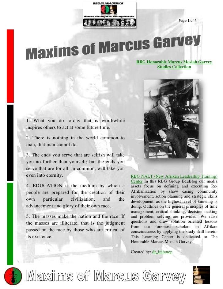 Page 1 of 4                                                      RBG Honorable Marcus Mosiah Garvey                       ...