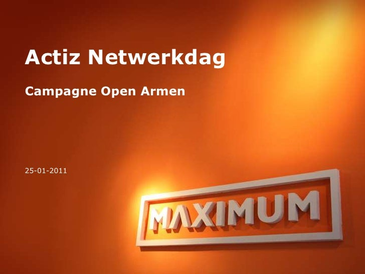Maximum workshop-openarmen campagne en toolkit
