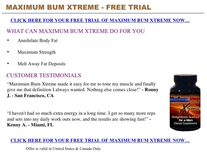 Maximum Burn Xtreme - Free Trial