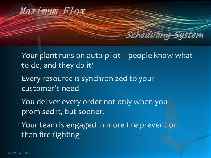 Your plant runs on auto-pilot – people know what to do, and they do it!<br />Every resource is synchronized to your custom...