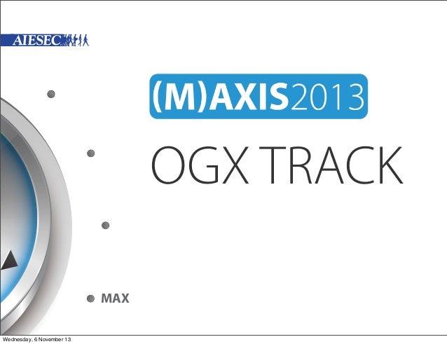 OGX TRACK MAX Wednesday, 6 November 13