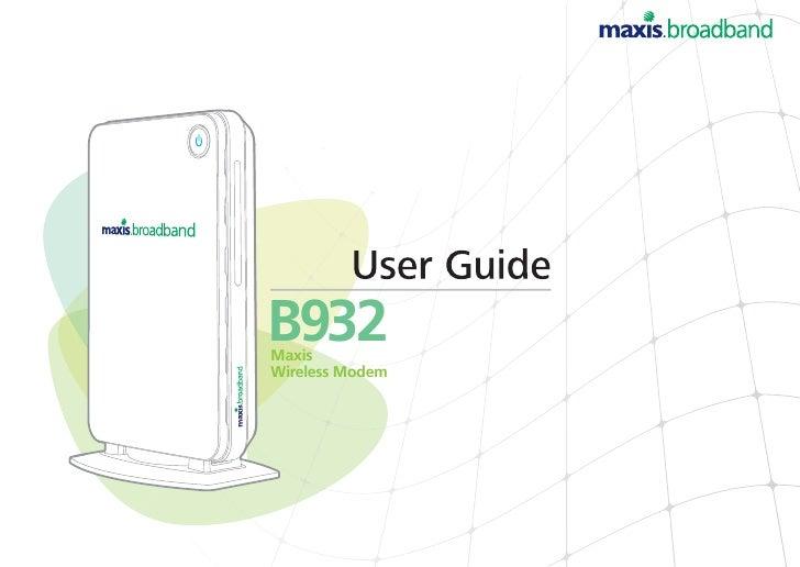B932 Maxis Wireless Modem